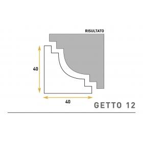 Getto 12 - Cornice sagomata in polistirene espanso