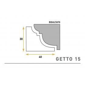 Getto 15 - Cornice sagomata in polistirene espanso
