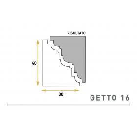 Getto 16 - Cornice sagomata in polistirene espanso