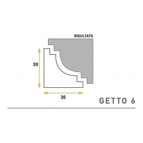 Getto 6 - Cornice sagomata in polistirene espanso