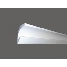 Led C - Cornice in polistirene gessato bianco