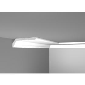 Lux 32 - Cornice in polistirene gessato bianco