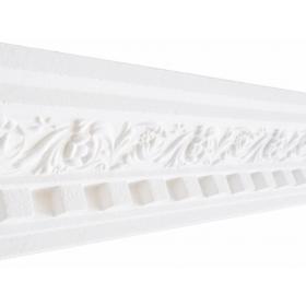 Palatino Bianco - Cornice in polistirene gessato bianco