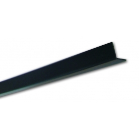 Pn 20 Nero Liscio - Paraspigolo in PVC