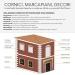 Mb 140 - Cornice in polistirene spalmato con graniglie - Decorget - Ital Decori - Thumbnail 1
